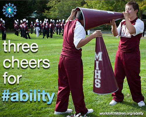 Three cheers for #ability.