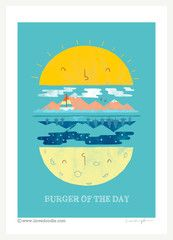 Burger of the Day - art print