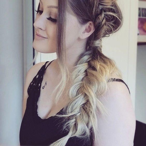 Heutige Frisur :) @bellamihair   #fischgrätenzopf #fischgräte #frisuren #braids #bellamihair #bellami