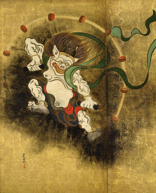 Ogata Korin. Thunder God. Edo Period. 1700s.