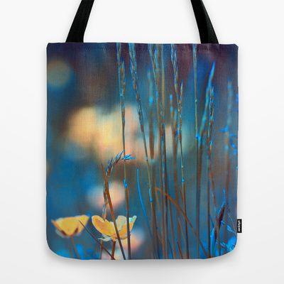 Blue dusk. Tote Bag by Mary Berg - $22.00 #totebag #bag #society6 #blue #flower #women