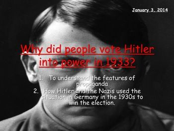 who voted for hitler essay An example of how hitler used his personality to his advantage is shown in the increase in the number of supporters of the nazi party between may 1928 and september 1930 in may 1928 the nazi party had a total of 12 supporters.