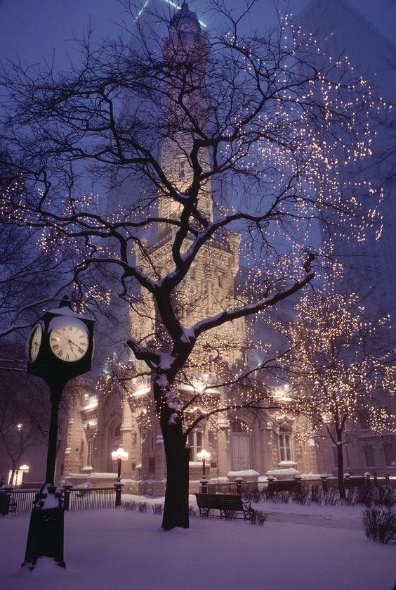 Водонапорная башня Чикаго - старый символ юного города