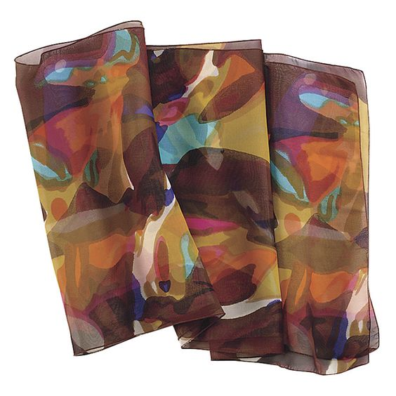 Watercolor Silk Scarf - Casual Women's Clothing and Fashion Accessories – Exclusive Styles in Misses and Womens Plus Sizes   Serengeti
