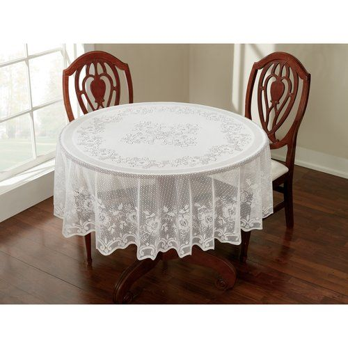 70 Quot Round 8 44 Lace Tablecloth White Kitchen
