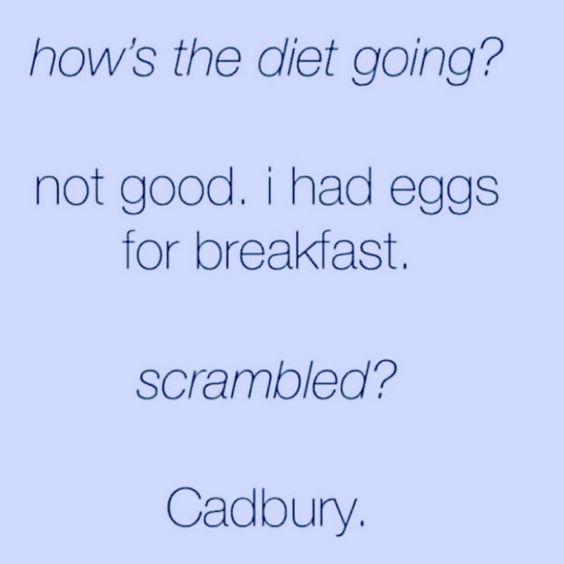 How's my diet going?