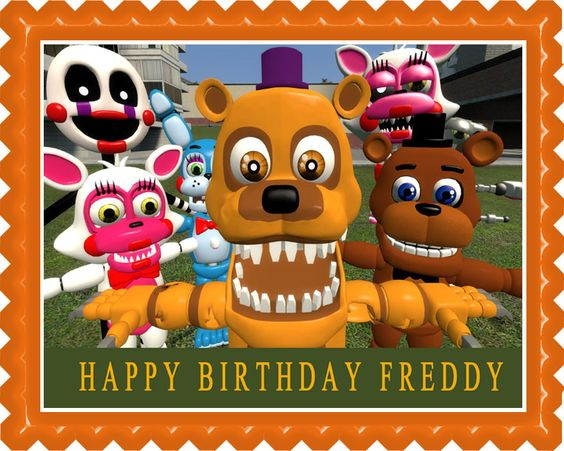 Edible Cake Image (ECI) - Fnaf World 3 Edible Birthday Cake Topper OR Cupcake Topper, Decor, $7.95 (http://www.ecakeimage.com/fnaf-world-3-edible-birthday-cake-topper-or-cupcake-topper-decor/)