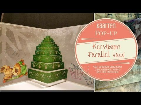 Pop-up Parallel vouw Kerstboom Deel 1 - YouTube