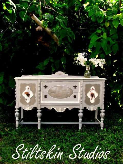 Shabby Distressed Cottage Buffet Server Table by StiltskinStudios, $425.00