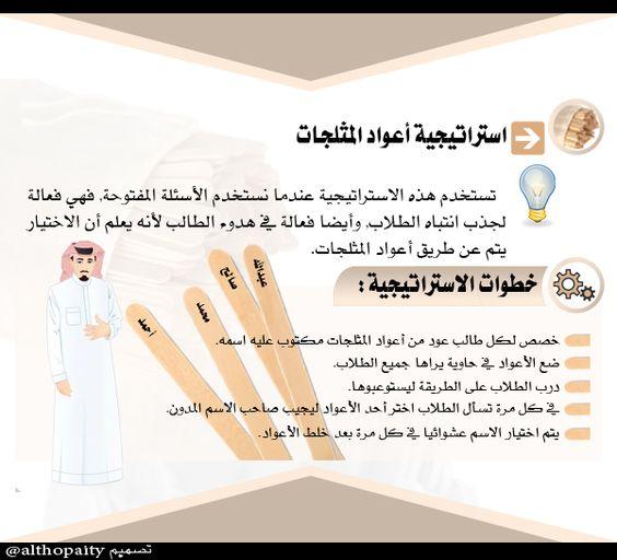 استراتيجية أعواد المثلجات Arabic Lessons Teaching Techniques Teach Arabic