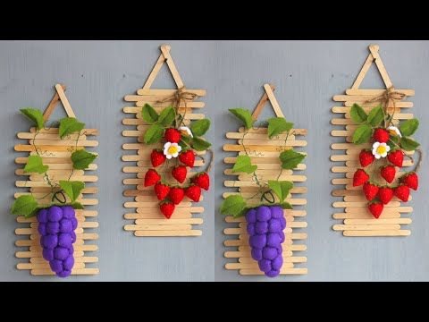 Popsicle Stick Crafts Ideas Diy Popsicle Hiasan Dinding Dari