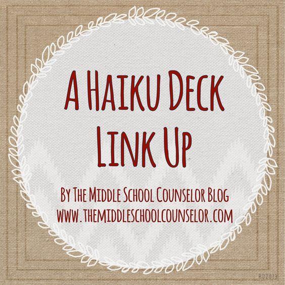 A Haiku Deck is an online presentation maker program.  Very useful for school counselors.  Read the blog to see how other school counselors use Haiku Deck in their counseling program.