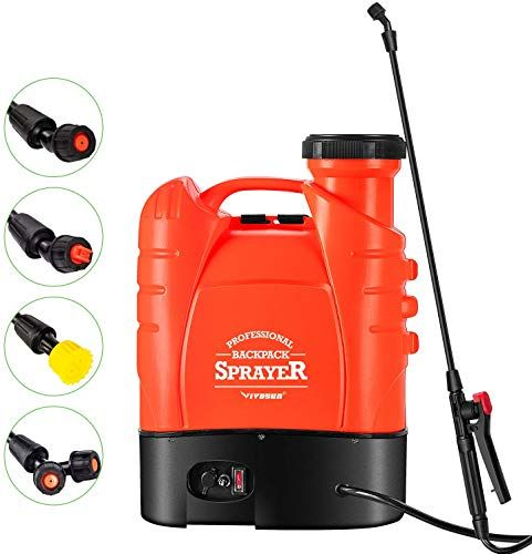 New Vivosun 4 Gallon Battery Powered Backpack Sprayer Electric Pump Sprayer Four Nozzles Garden Lawn Orange Online Shopping Looknewclothingshop In 2020 Sprayers Power Sprayer Cool Backpacks