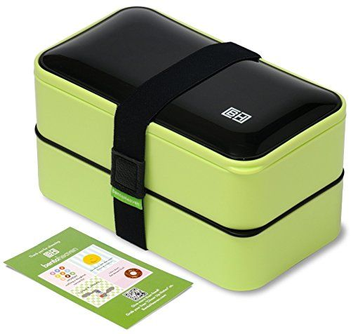 Original BentoHeaven Bento Box  FREE Fun Lunch Notes, Cutlery, Chopsticks,4 Color Options - Premium Leakproof Lunch Box for Adults