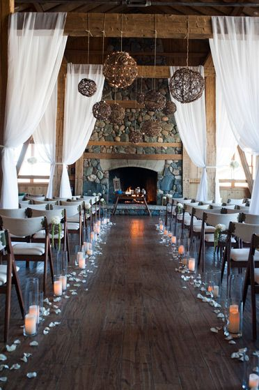 romantic vintage winter wedding ceremonies