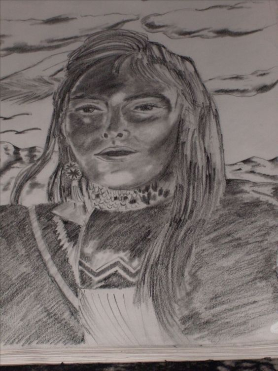 """Indian Woman"" Pencil, Early 2000's"