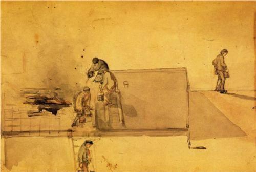 A Fire at Pomfret - James McNeill Whistler