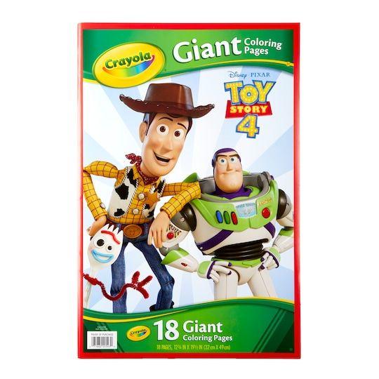 Crayola Disney Pixar Toy Story 4 Giant Coloring Pages Kids Coloring Books Coloring Books Toy Story