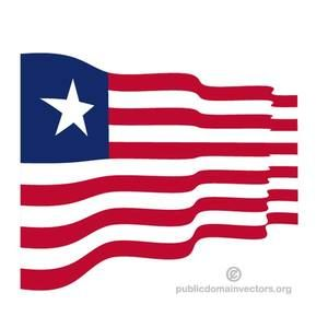 Vector flag of the Republic of Liberia, a country in Africa.