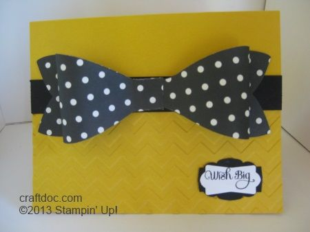Stampin' Up! Gift Bow Die and Artisan Label Punch