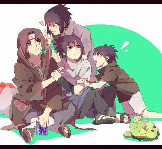 Happy birthday Itachi, Akatsuki, Sasuke, different ages, time lapse, young, childhood, cute, dinosaur toy; Naruto