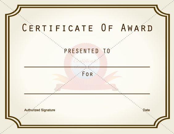 Art Award Certificate SCHOOL CERTIFICATE TEMPLATES Pinterest - download certificate templates