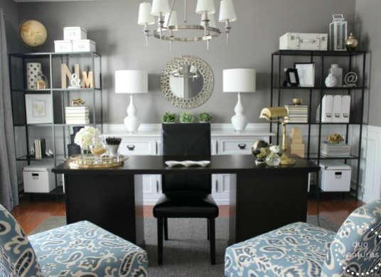 Amazing 80+ Living Room Office Combination Inspiration Of - living room office ideas