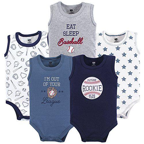 Summer Fun Hudson Baby Unisex Baby Cotton Sleeveless Bodysuits