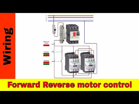 How To Wire Forward Reverse Motor Control And Power Circuit Youtube Electrical Diagram Reverse Power