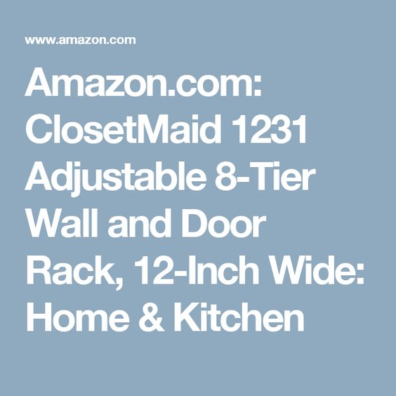 Amazon Com Closetmaid 1231 Adjustable 8 Tier Wall And Door Rack 12 Inch Wide Home Kitchen Foil Decor Closetmaid Wall Art Decor