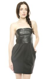 Strapless Leather Dress  Lace Leather and Dresses