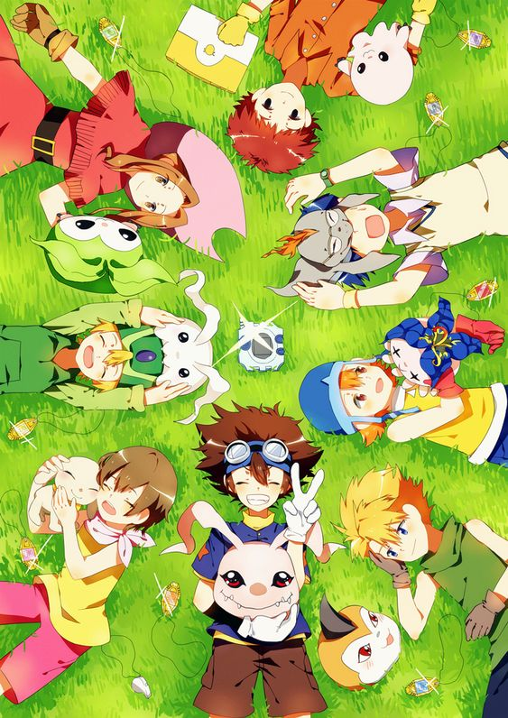 Digimon Adventure || The original DigiDestined with their #digimon. Read my review for the Digimon Tri movie: http://www.animedecoy.com/2016/01/digimonTri1.html~: