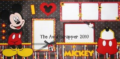 {I♥Mickey Disney Scrapbook Pages}