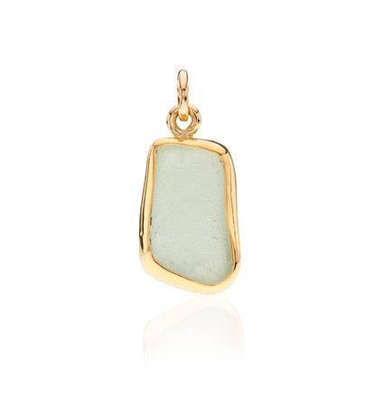 CBStark Jewelers - Seaglass charm in 22k and 14k gold, $350.00 (http://www.cbstark.com/jewelry/seaglass-charm-in-22k-and-14k-gold/)