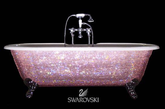 Swarovski Crystal Encrusted Bath Tub... wow