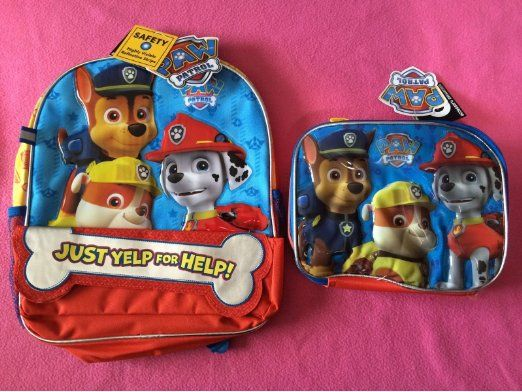 paw patrol backpack paw patrol and lunch boxes on pinterest. Black Bedroom Furniture Sets. Home Design Ideas