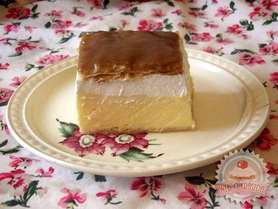 Francia krémes: Desserts Édességek, Sütemények Szerelmeseinek, Francia Krémes, Házi Sütemények