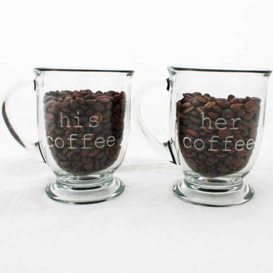 Etched glass coffee and unique gifts on pinterest for Cool glass coffee mugs