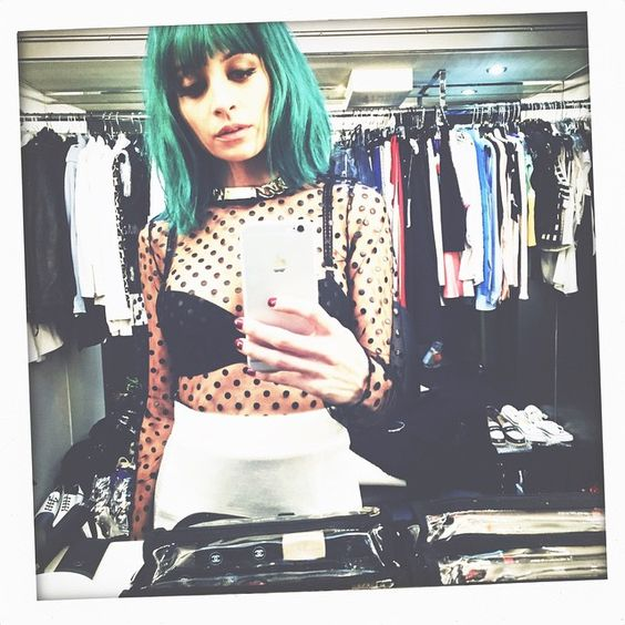 nicole richie's photo on Instagram So in love with her teal bob!