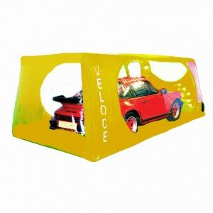 Indoor Veloce Carcoon Car Bubble Extra Small Yellow (400 x 200cm)