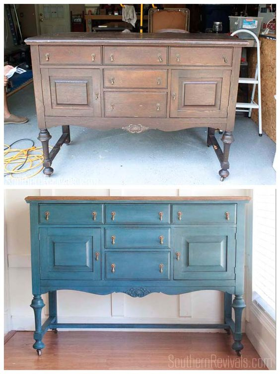 Making Over An Antique Sideboard Buffet   The Client Files - Southern Revivals