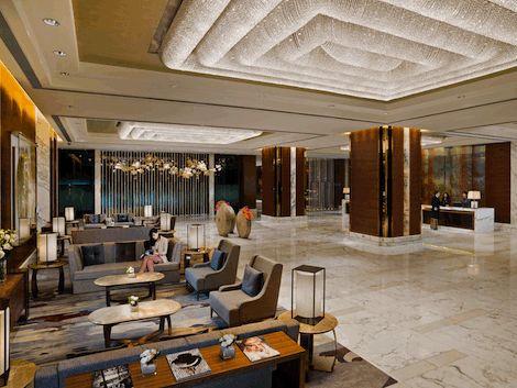 Lobby - dramatic - hotel lobby
