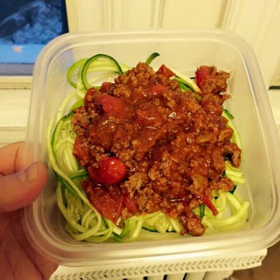 6 Week 20 Pound Challenge Recipe Guide: Veggetti Bolognes