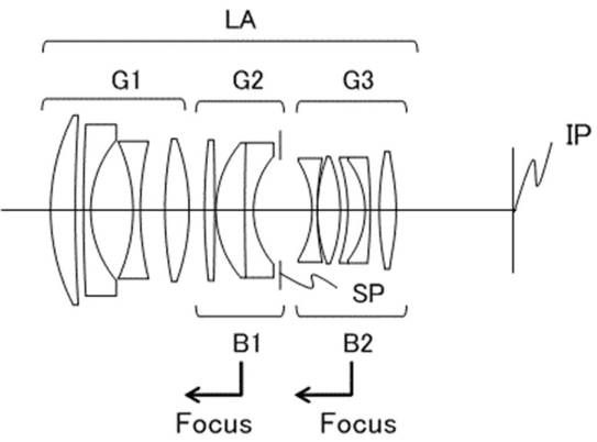 Canon Patent For 58mm F 1 4 Full Frame Lens With Adjustable Soft Focus Canon Patent Application 2018 97240 In Japan D Full Frame Camera Soft Focus Full Frame