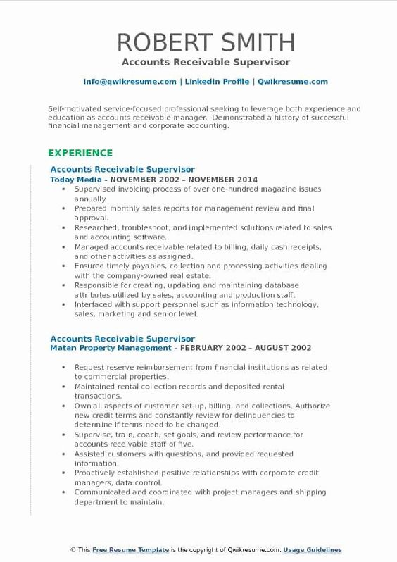 23 Accounts Receivable Job Description Resume Resume Examples