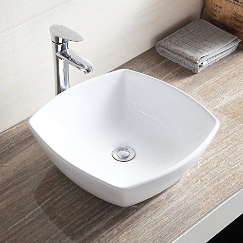 Topbath Bathroom Ceramic Vessel Vanity Sink Bowl White Porcelain Basin Pop Walmart Com In 2020 Ceramic Vessel Sink Vanity Sink