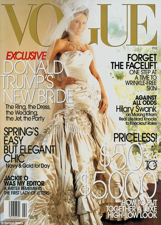 The Slovenian supermodel appeared on the cover of Vogue magazine in her hand-embroidered f...