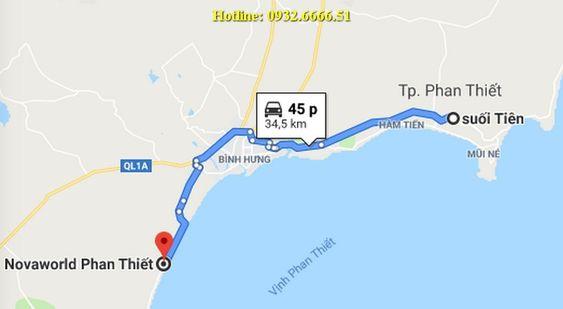 NovaWorld mất đến 45 phút mới đến khu vui chơi Suối Tiên Bình Thuận