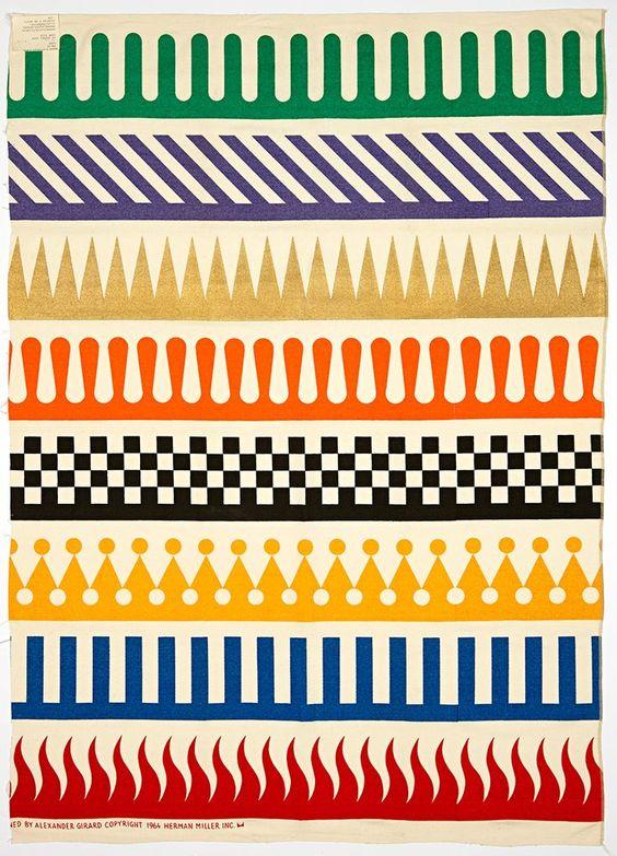 Alexander Girard; Fabric Design for Herman Miller, 1964.