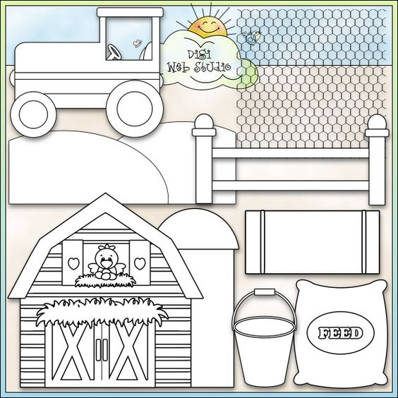 Farm Life 1 - NE Kristi W. Designs Digi Stamps : Digi Web Studio, Clip Art, Printable Crafts & Digital Scrapbooking!